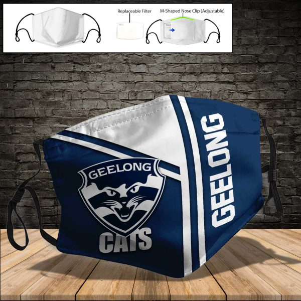 Geelong Cats Pm 2 5 Air Pollution Masks Washable Reusable Face Mask F 1 Facemaskauto Com